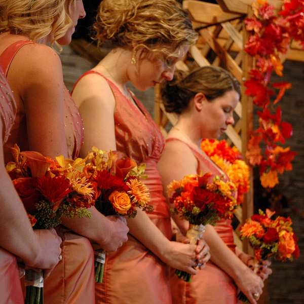 elegant orange bridesmaid dresses for wedding