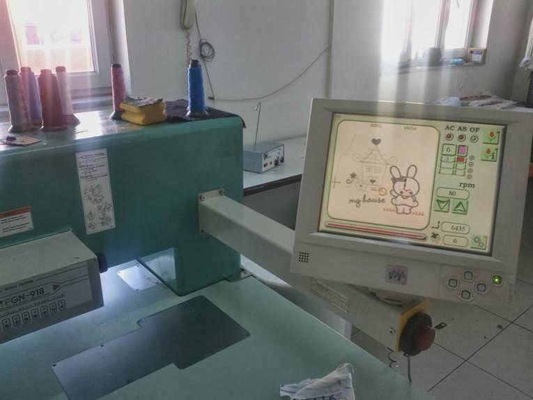 nakış makinaları - nakış işleme merkezi