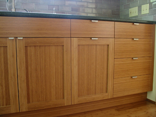 Bamboo lamp photo bamboo kitchen cabinets for Bamboo wood kitchen cabinets
