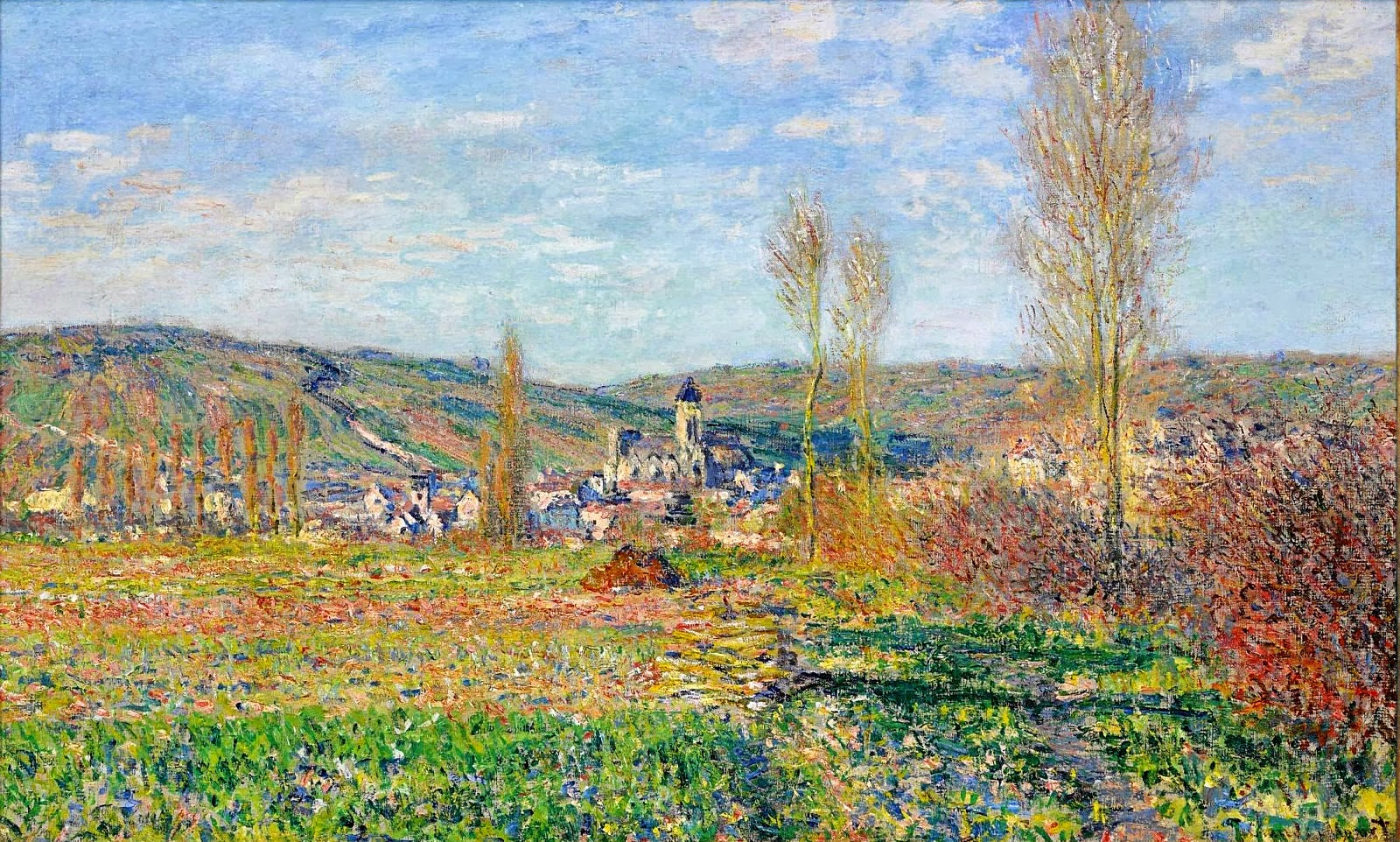 art artists claude monet part  claude monet 1880 veacutetheuil under the sun oil on canvas