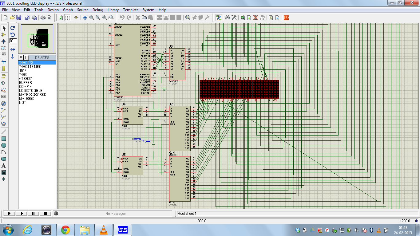 Led Display Using 8051 Microcontroller Made In Proteus Shows The Required Circuit Photos
