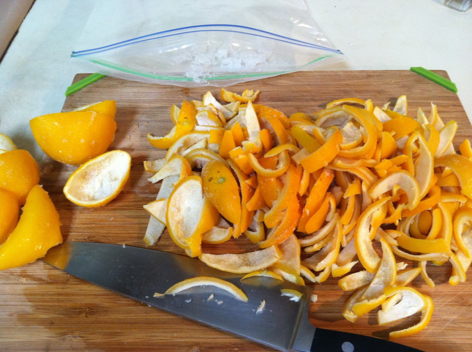 What Julia Ate: Candied Meyer Lemon Peel