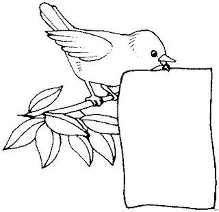riscos para pintura de passarinhos