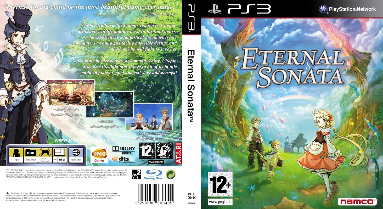 Capa Eternal Sonata PS3