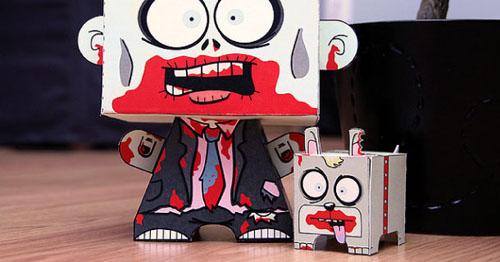 Zombie paper toy, Publicitário13