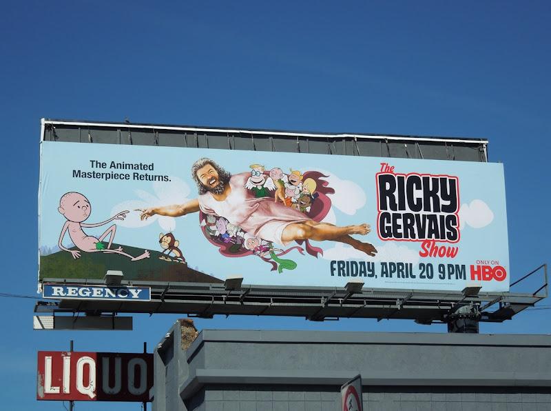 Ricky Gervais Show season 3 billboard