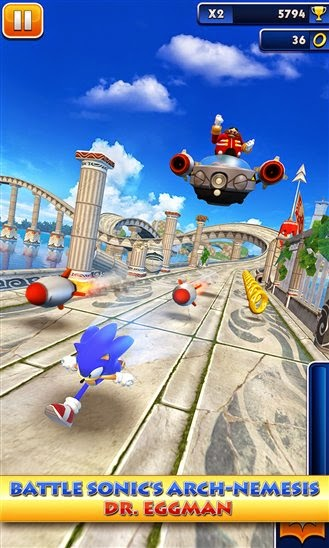 SEGA releases Sonic Dash game for Windows Phone and Windows 8.1
