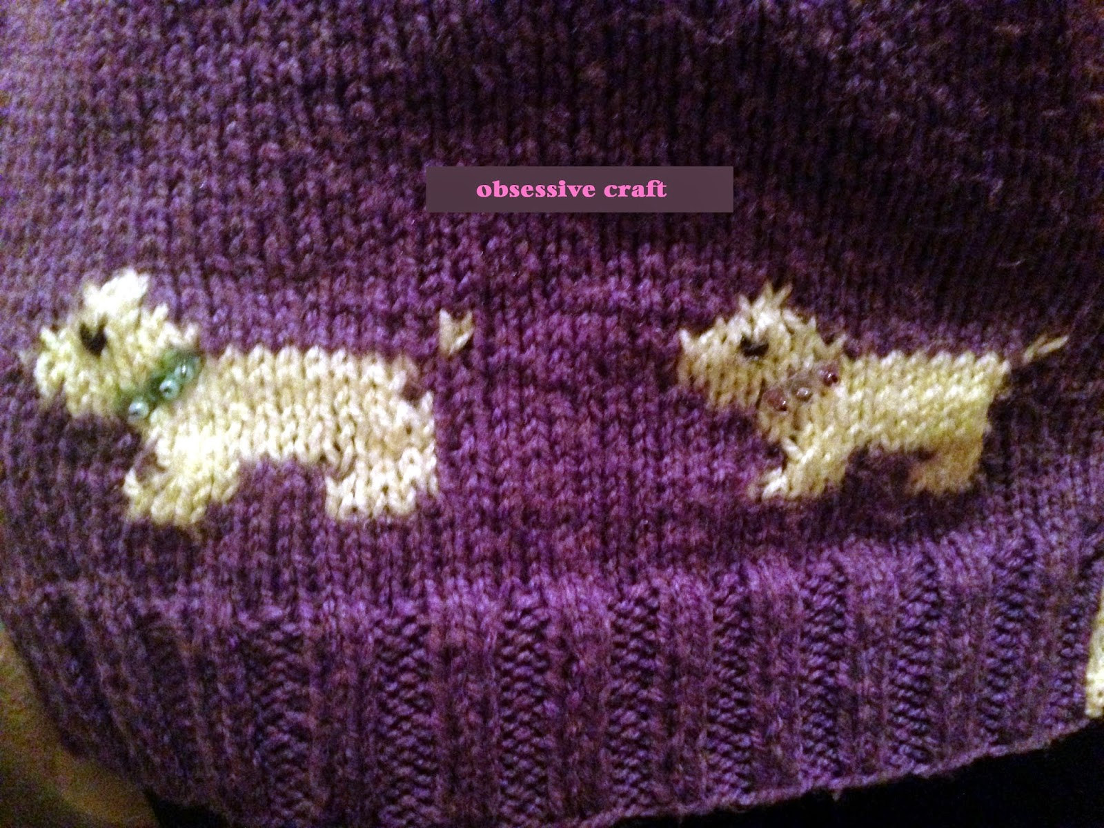 Dog Paw Knitting Pattern : Obsessive Craft: Knitted vest with dog and paw patterns ...