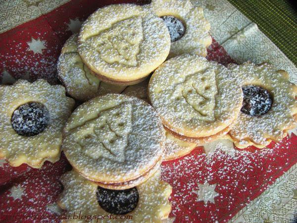 Kruche ciasteczka z budyniem i życzenia świąteczne :))