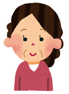 おばさんのイラスト(中年女性)1