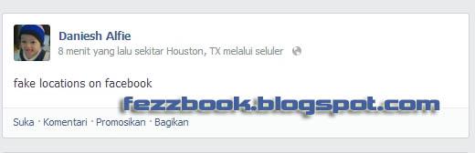 Langkah-langkah membuat Update Status Facebook Via Lokasi Dan Seluler