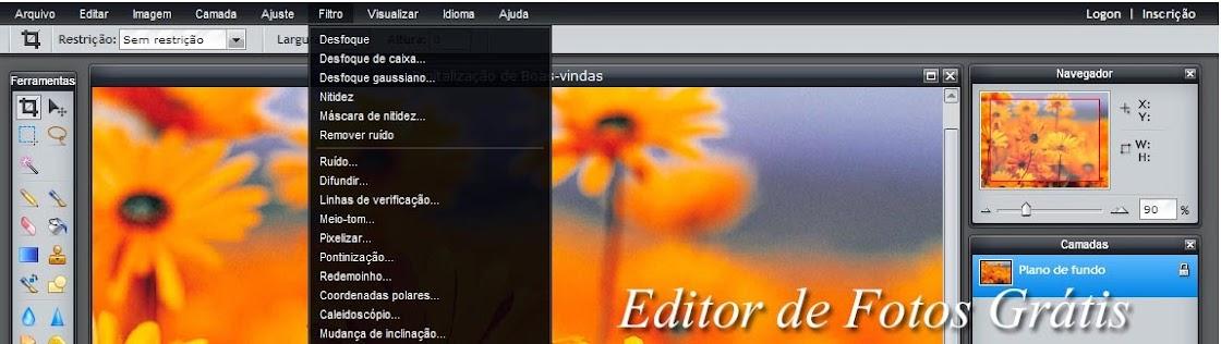 Editor Online Grátis de Fotografias