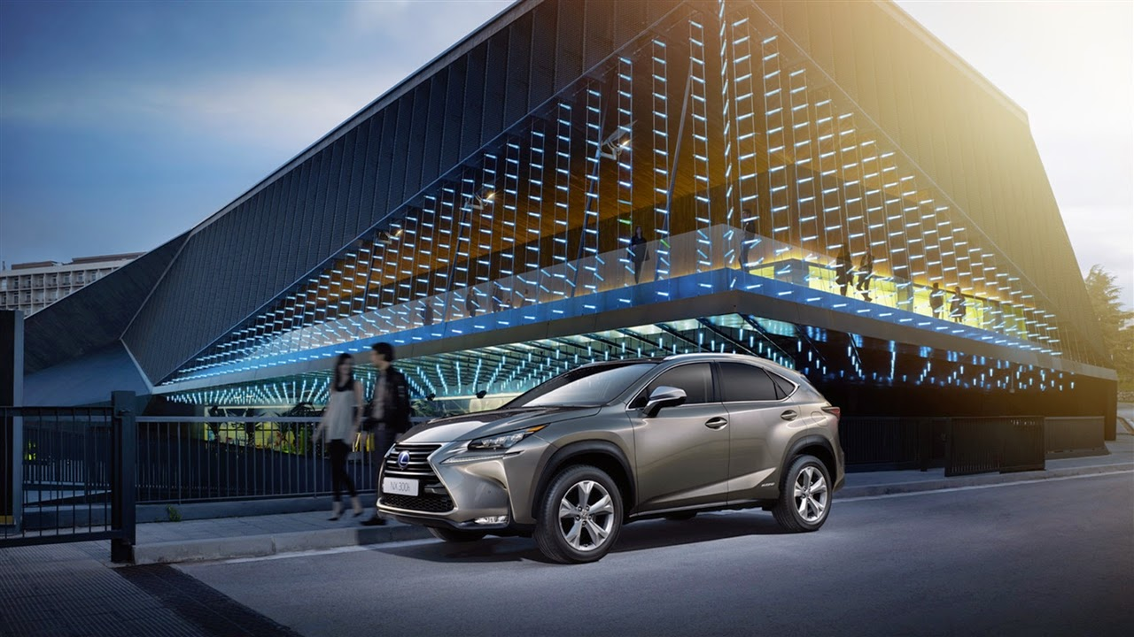 Lexus NX from the front