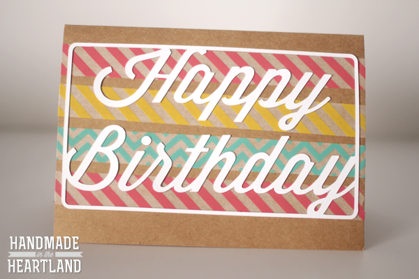 DIY Washi Tape Birthday Cards