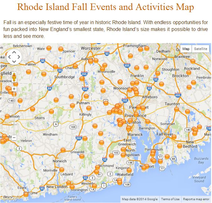 New England Fall Events'  Interactive Attraction Map Farms Orchards Locations Image