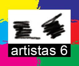 logotipo realizado por Juan Sánchez Sotelo para la academia de dibujo y pintura Artsitas6 de Madrid, clases y cursos para aprender a dibujar y pintar. Venta de obra original contemporánea abstracta y figurativa. Enmarcación. Retratos y otros encargos.