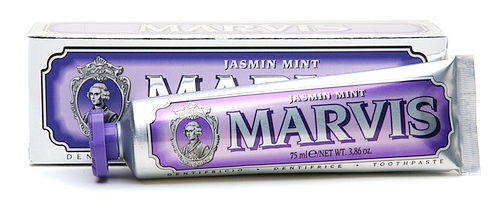 travel, travel-sized beauty products, travel beauty essentials, Marvis Jasmin Mint Toothpaste