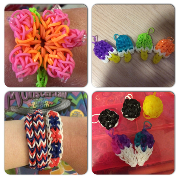 Rubber Band Bracelets @craftsavvy @blakergirl4life #craftwarehouse #rainbowloom #loombands #diy #rubberbandbracelets