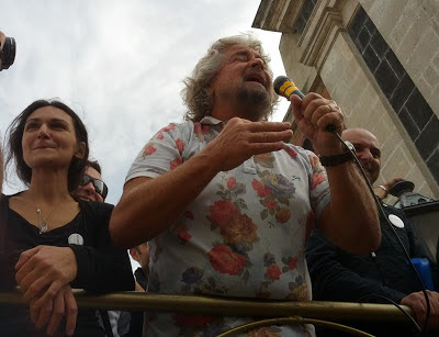 Beppe Grillo a Mascalucia