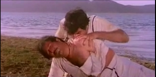 Hindi film hero kissing
