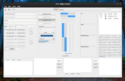Tema Adawita X Dark GTK Azul para Ubuntu