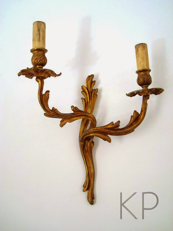 Kp tienda vintage online apliques de bronce antiguos francia a os 40 ref l88 - Apliques de pared clasicos ...