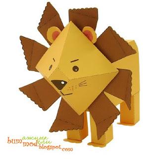 бумажная поделка лев