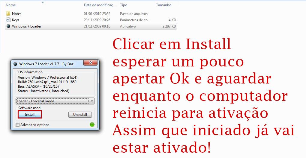 como ativar o windows 7 parte 3
