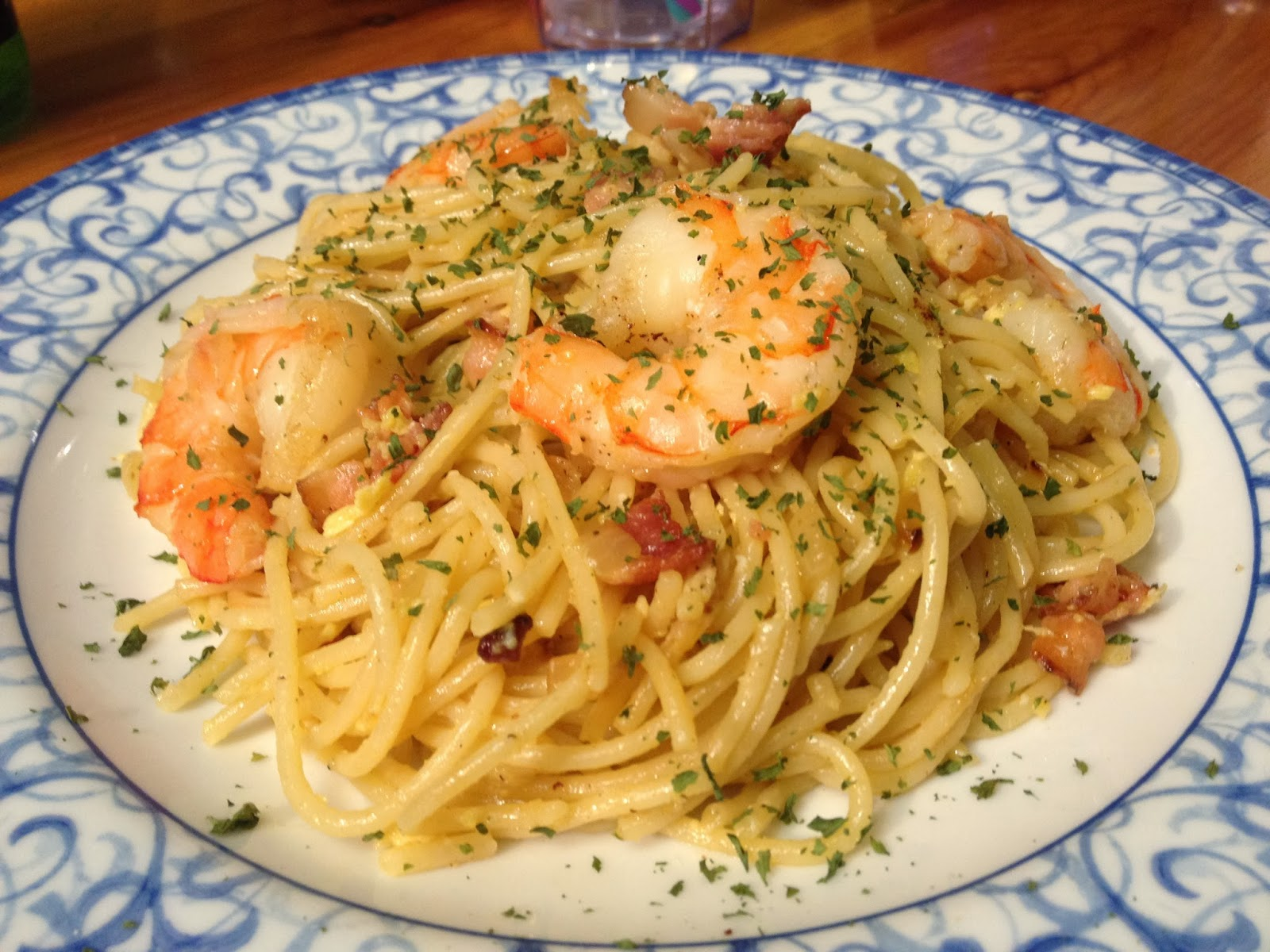 Shrimp Carbonara Recipe — Dishmaps