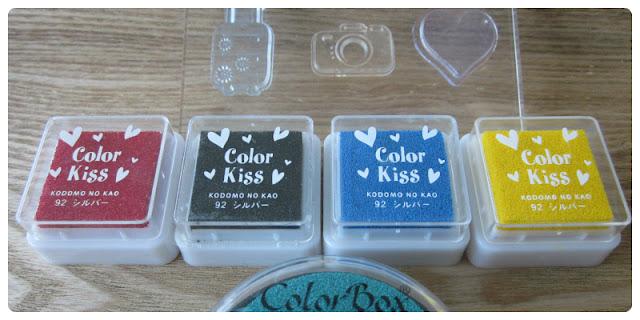 Sellos de silicona y tintas de colores