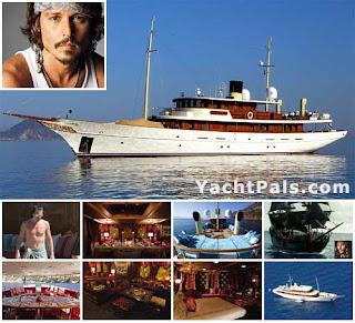 Details on Johnny Depp Vajoliroja Yacht