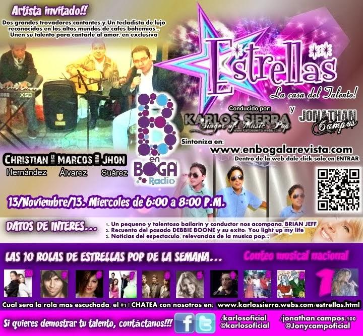 KARLOS ☆ SIERRA 》cantante ⦿ comunicólogo ⦿ networking: 2013