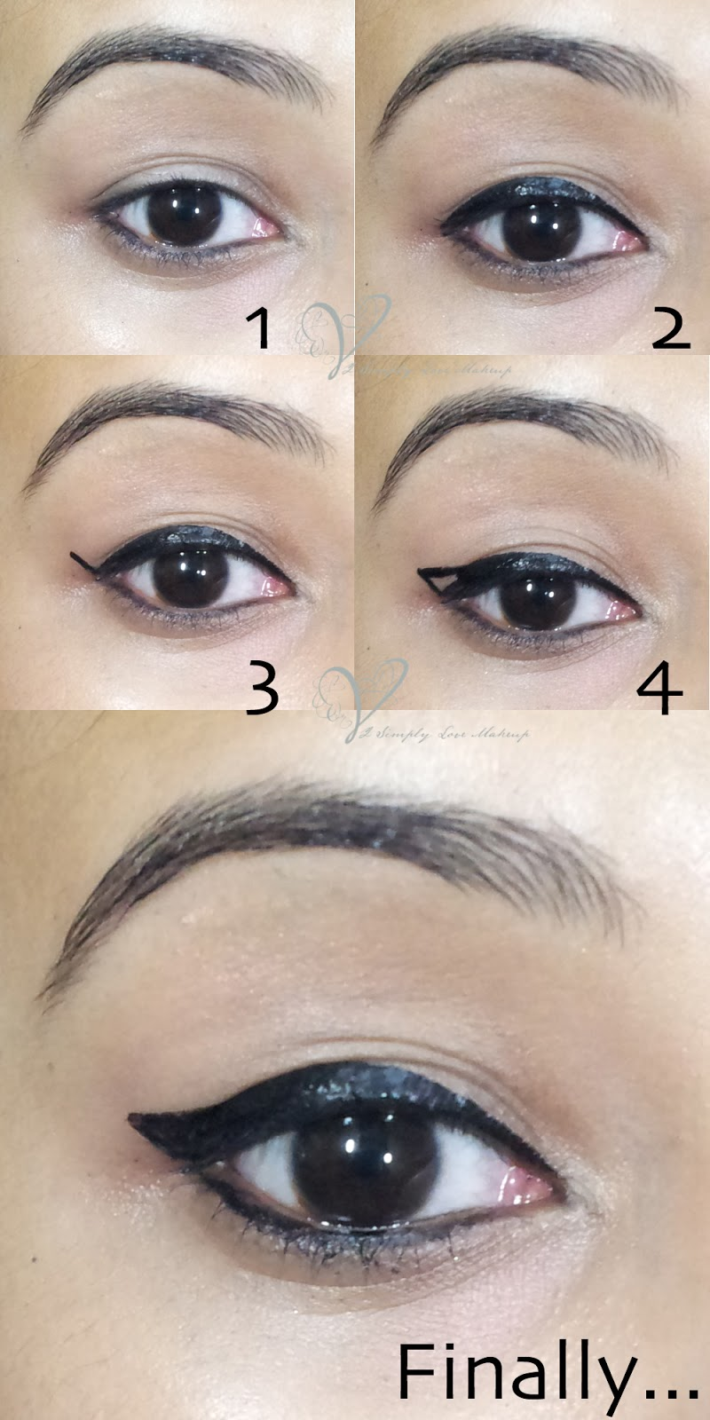 Basics of eye makeup winged eye liner types and tutorial the basic jaded winged liner tutorial baditri Image collections