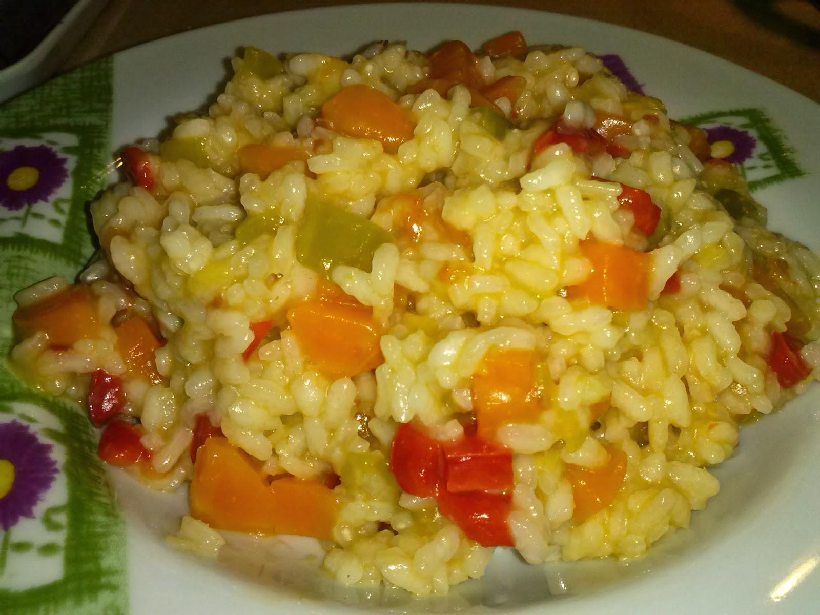 Nuestras recetas de andar por casa arroz con verduras - Arroz con pescado y verduras ...