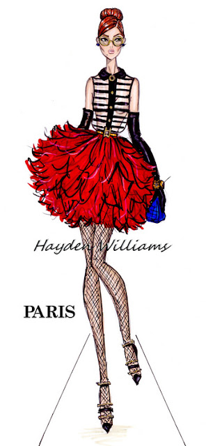 hayden williams fashion illustrator paris fashion week fashion drawing sketch