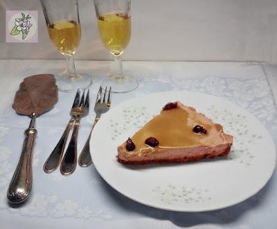 Tarta Mousse Vegana de Queso con Chocolate