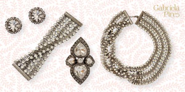 Semi jóias - acessórios - maxi colar - brinco - anel - pulseira -bracelete - prata velha - loja Gabriela Pires - bijuterias