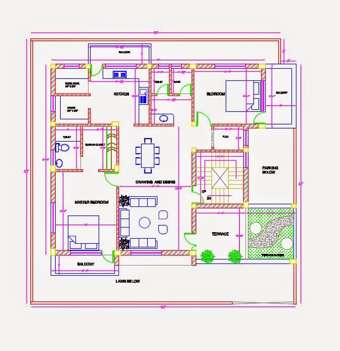 New House Plans 2014 ghar planner : leading house plan and house design drawings