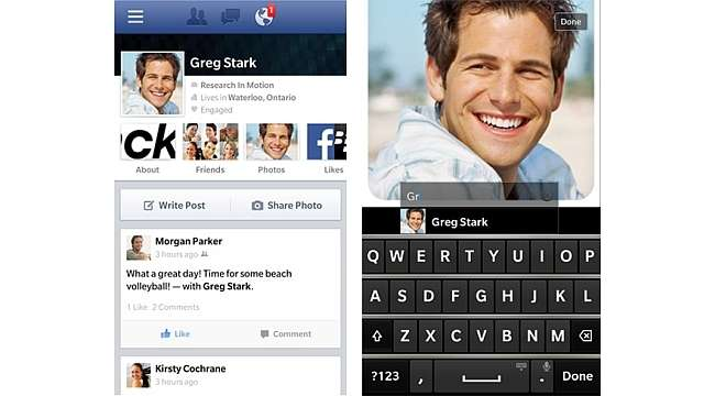 BlackBerry 10 gets a Facebook App update and new News Feed design