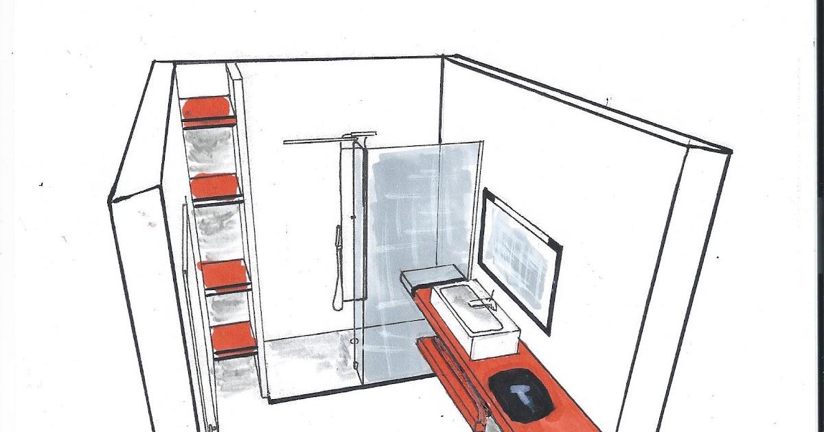 int dsgn croquis salle de bain. Black Bedroom Furniture Sets. Home Design Ideas