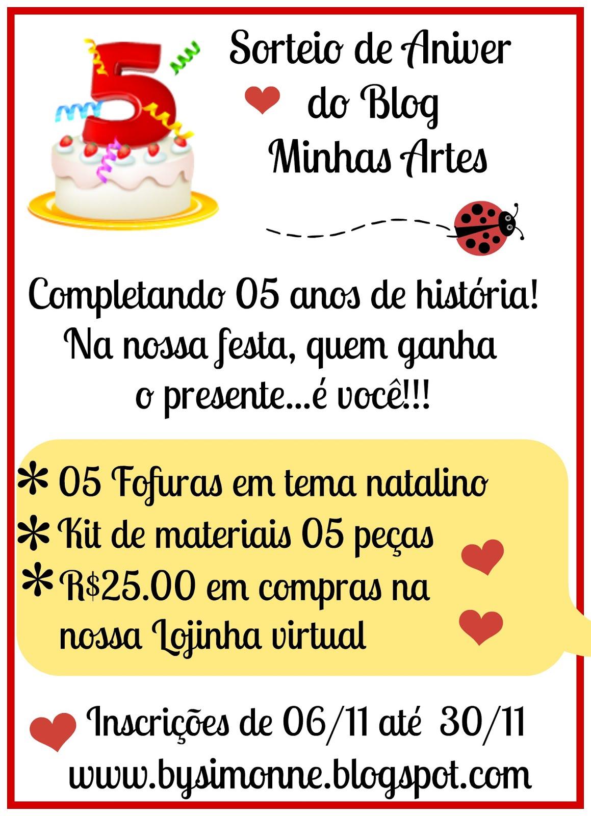 ♥ 05 anos de história! Venha participar da nossa festa!