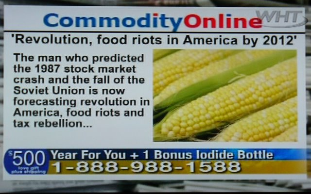 Food riots are coming in 2012, says Jim Bakker