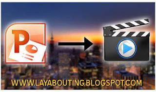Cara Mudah Mengubah File PPTP Menjadi Video