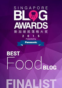 Singapore Blog Awards 2015 ~ Finalist, BEST FOOD BLOG