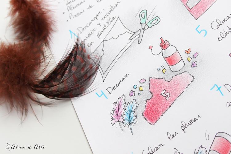 Ilustración diy mimosorum
