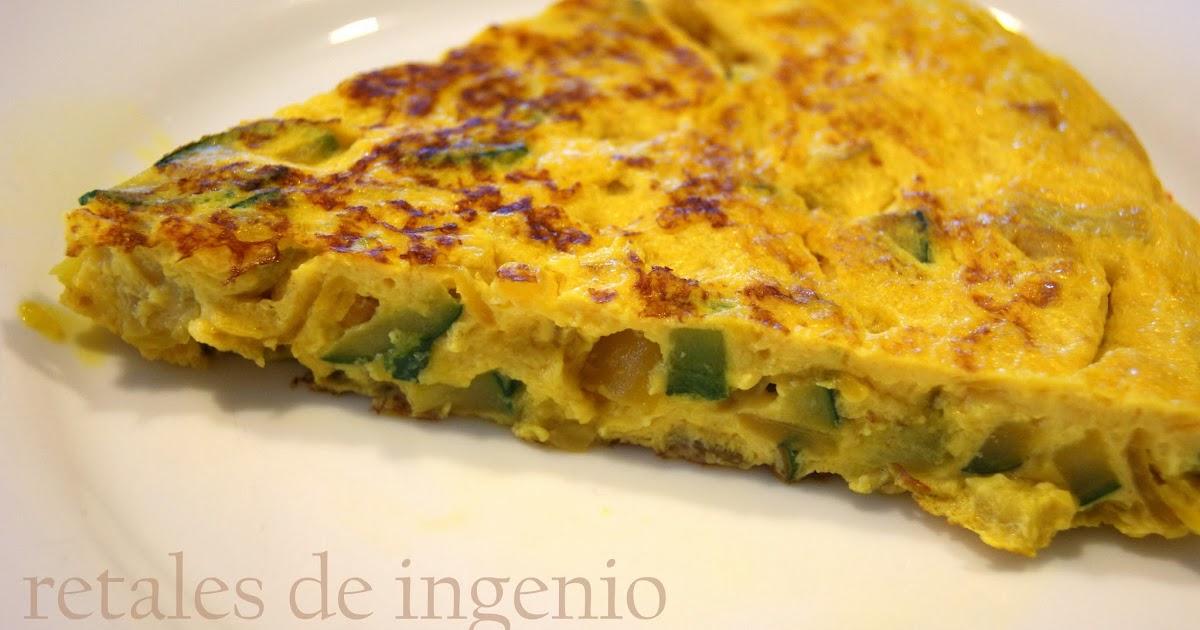 Retales de ingenio recetas y diet tica tortilla de - Tortilla de calabacin y cebolla ...
