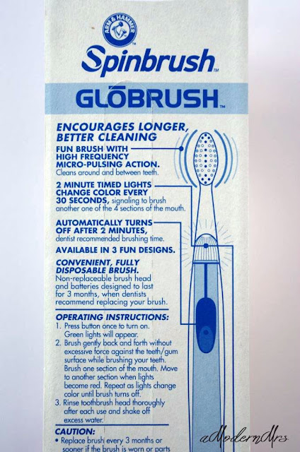 Arm & Hammer Spinbrush™ Globrush™ Review + Giveaway — a Modern Mrs.