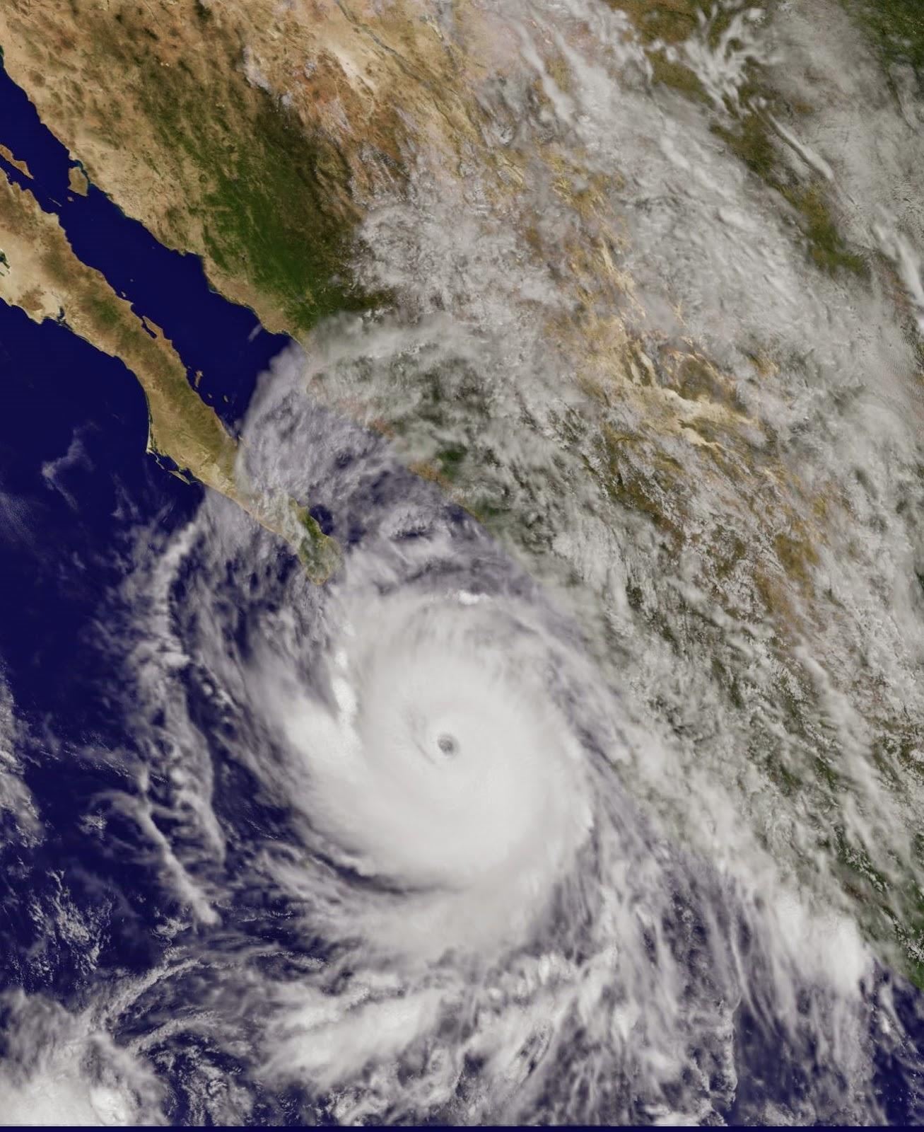 Hurrikan Odile, 14 September 2014, 2014, Acapulco, aktuell, Baja California, Mexiko, Odile, Pazifische Hurrikansaison, Puerto Vallarta, Satellitenbild Satellitenbilder, September, Vorhersage Forecast Prognose,