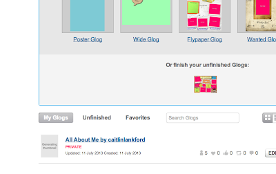 example of how to embed a Glog onto Blogger