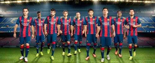 Nike released 14/15 Barcelona home kit